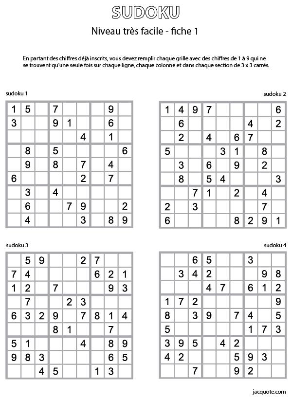 Sudoku Facile Imprimer