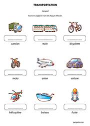 Vocabulaire Anglais Les Moyens De Transport 1 Jacquote Jeux En Ligne